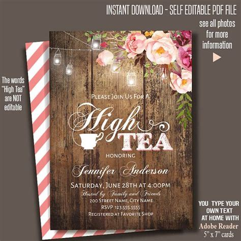 9 printable party invitations free psd vector eps ai format
