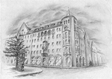 Haus Zeichnen by H 228 Usserfassade Haus Geb 228 Ude Altstadt Zeichnen