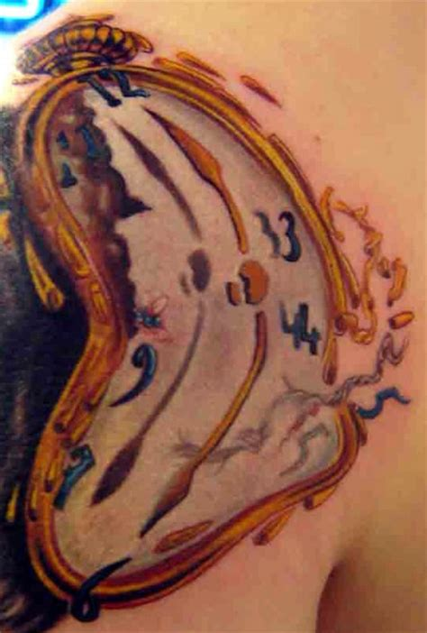 melting clock tattoo meaning bubbles and melting clock tattoos fresh 2017 tattoos