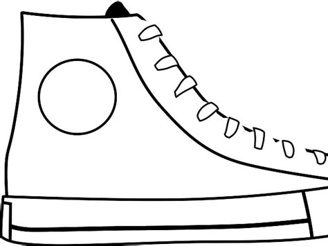 tennis shoe outline template