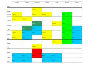 Time Planner Template Time Management Planner
