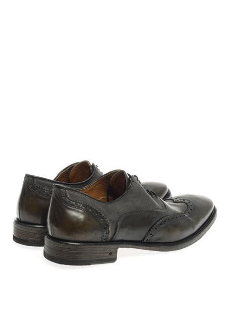 varvatos shoes varvatos fleetwood leather oxford shoes in black for
