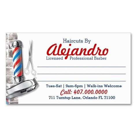 barber business cards templates free 214 best barber business cards images on