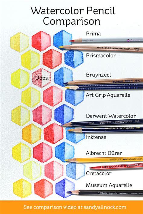 colored pencil comparison watercolor pencil comparison allnock