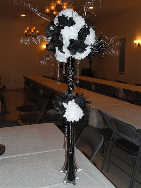 black and silver wedding centerpieces black silver white centerpieces indoor reception winter