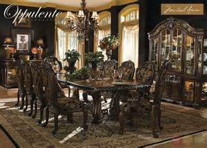 luxury dining room set michael amini oppulente luxury formal dining room set by aico