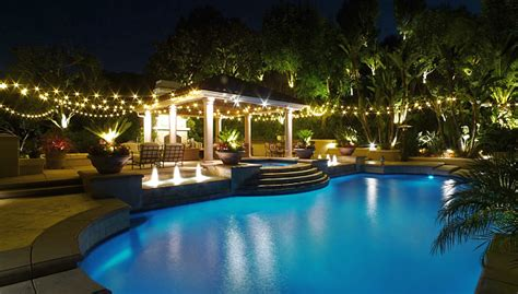 Backyard Pools League City Gallery Outdoor Accent Landscape Lighting Installation