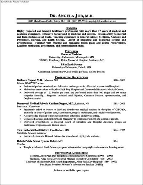 physician resume template physician resume templates free sles exles