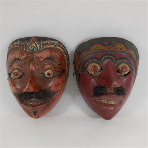 Masker Java twee houten maskers wayang topeng java indonesi 235