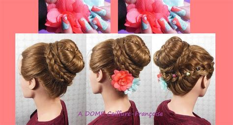 cornrows with doughnut wivon at top coiffure chignon haut quot tresses donut quot nailart top bun
