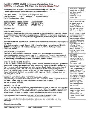 Hardship Letter Loss Mitigation Hardship Letter Template Forms Fillable Printable Sles For Pdf Word Pdffiller