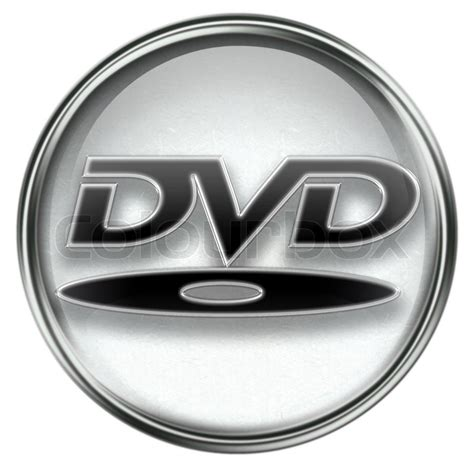 dvd format logo licensing corporation dvd icon grey isolated on white background stock photo