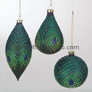 teardrop ornament diy sterling ornament painted glass tear drop finial peacock feather china trading