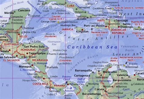 caribbean sea map caribbean sea world map www imgkid the image kid has it