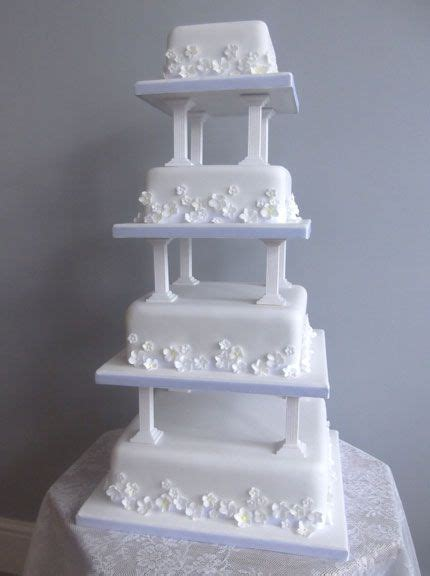Wedding Cake Pillars by 1000 Images About Burgundy Wedding Cakes Ideas On