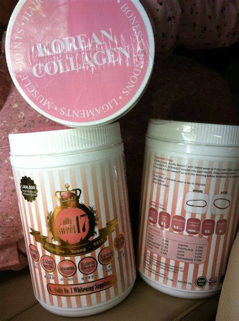 Korean Collagen Sweet17 k colly sweet 17 korean whitening collagen halal haccp kkm