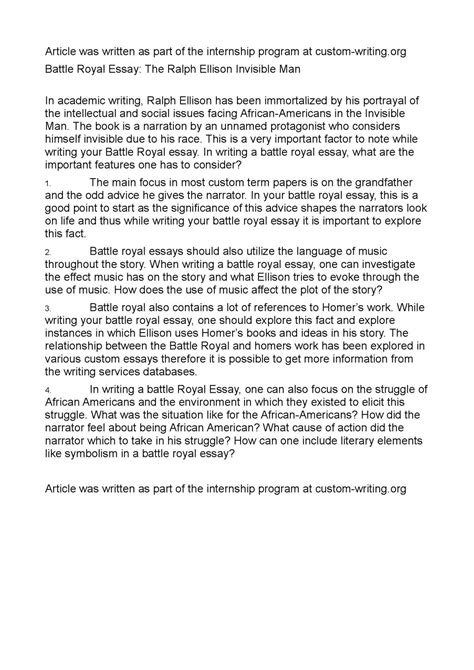 Invisible Essay by Invisible Essay Invisible Essay Thesis Essay Most Enjoyable Day Causes Of Wwii