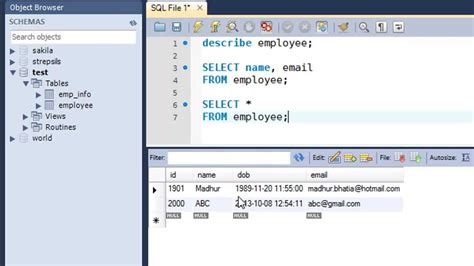 sql query exles tutorial sql tutorial 14 the select query youtube