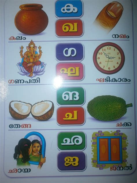 malayalam alphabet practice workbook books letters and words malayalam 2 padavali kutti sarva kala