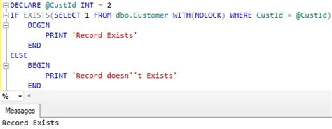 sql check if temp table exists how to check if a record exists in table in sql server