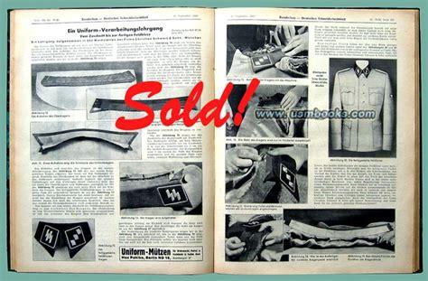 german pattern making books nazi uniform tailor magazines 1939 1942