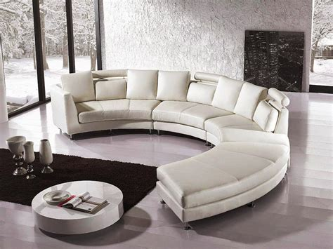 curved white leather sofa white leather curved thesofa