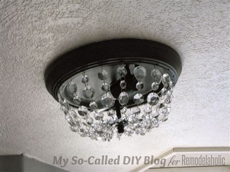 lights in ceiling called remodelaholic update a dome ceiling light with faceted