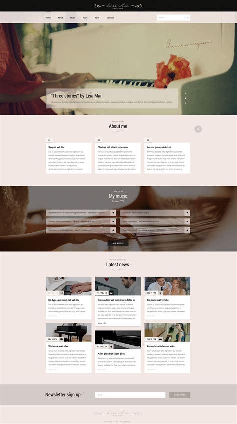 Piano Teacher Web Template Piano Website Template