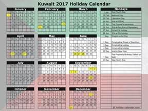 Kuwait Kalendar 2018 Kuwait 2017 2018 Calendar