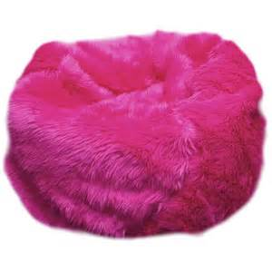Fuzzy Bean Bag Chairs Sale Fuzzy Fur Pink Bean Bag Chair Polyvore
