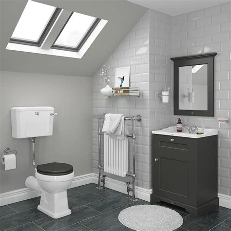 downton abbey bathroom downton abbey traditional vanity unit 600mm wide charcoal