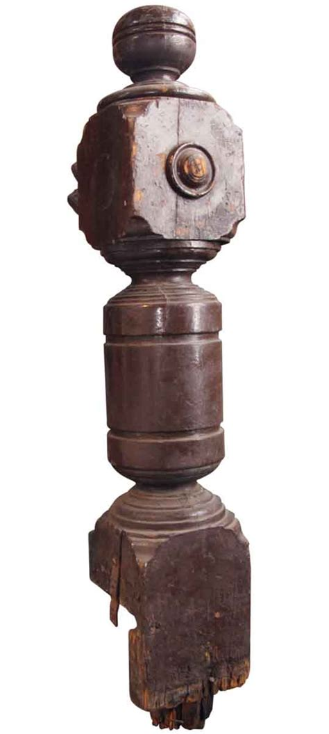 antique newel post l antique solid newel post olde things