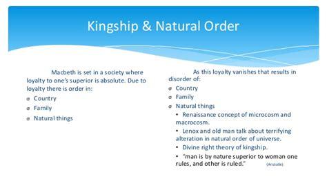 macbeth themes natural order macbeth act v