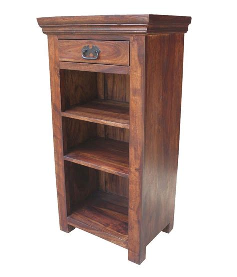 brown 3 open shelves with 1 drawer bedside table buy brown 3 open shelves with 1 drawer