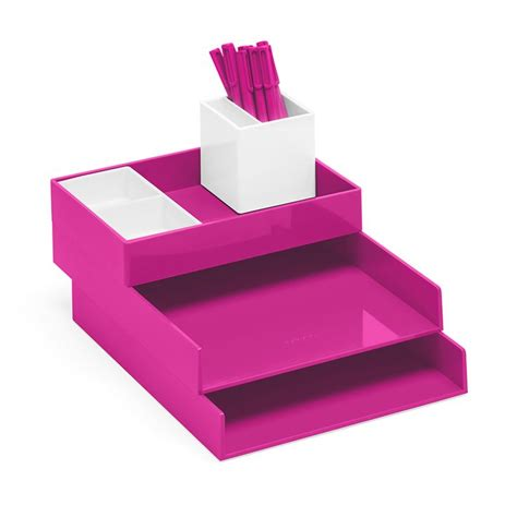 Pink Desk Organizers And Accessories White Pink Stacked Popping Desk Accessories In Pink Navy Or Aqua Room Aqua