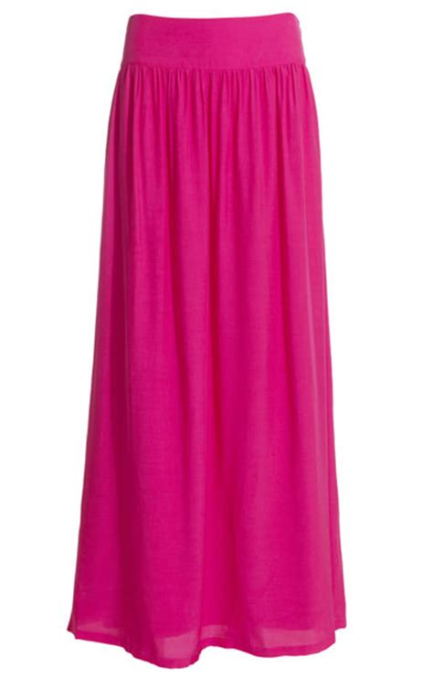 bright pink maxi skirt dress ala