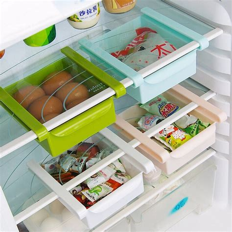 Kitchen Shelf Organization Ideas by Double Your Storage Space With The Refrigerator Sliding