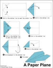 Paper Folding Aeroplane - special interest area a variety of simple origami paper