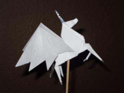 Origami Pegasus - origami pegasus by dragongirl9888 on deviantart