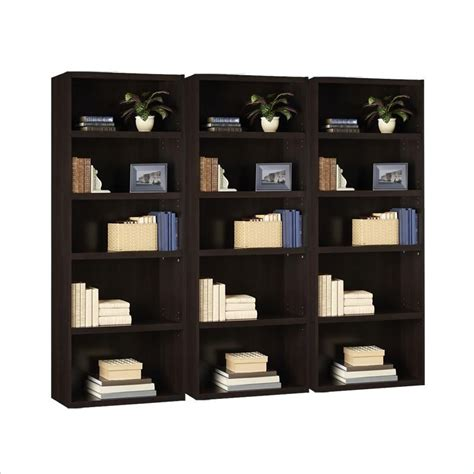 ameriwood russet 5 shelf bookcase ameriwood 5 shelf wood russet cherry bookcase ebay