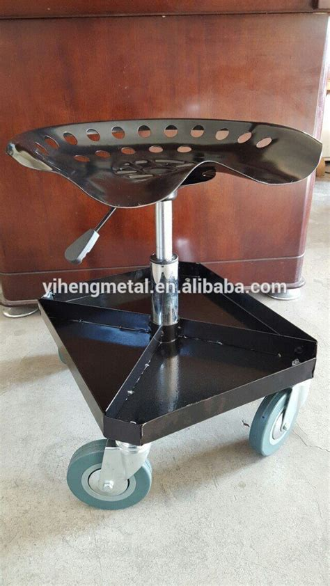Garage Stool With Wheels by Adjustable Rolling Garage And Shop Seat Mechanic Stool