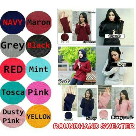 Sweater Atasan Roundhand Hitam roundhand sweater shopee indonesia