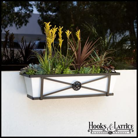 metal window flower boxes medallion decora metal window box wrought iron flower boxes