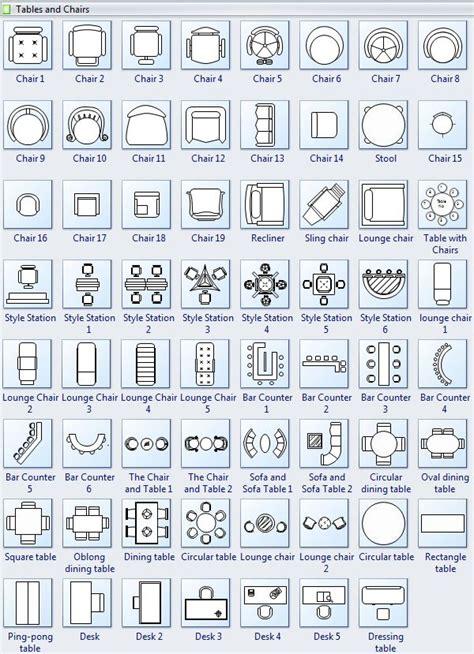 symbols  floor plan tables  chairs   floor