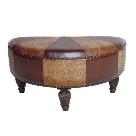 pattern ottoman faux leather ottoman in mix pattern ywlf 2333 mx