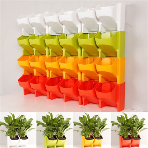 Vertical Garden Decoration by 2 Pocket Vertical Wall Planter Self Watering Hanging