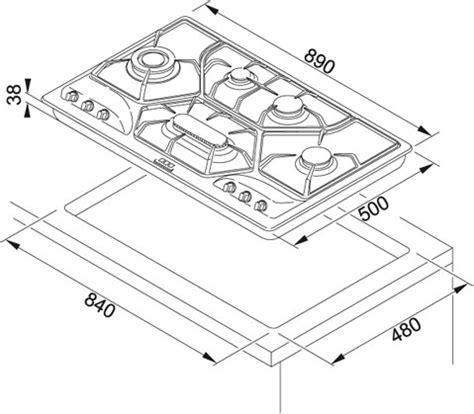 piano cottura misure standard franke opera poi6 3gav d o 6691500 piani cottura a gas