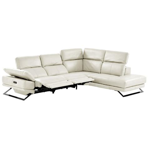 chaise toronto toronto white power motion leather sofa w right chaise