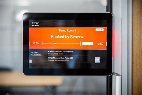 crestron room booking system meeting room digital signage booking system software
