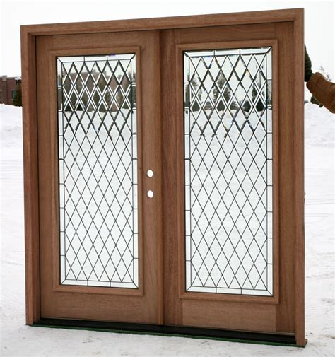 Glass Wood Doors Large Brown Wooden Doors With Glass On The Middle Combined With Black Steel Bars Rhombus